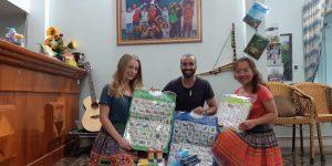 donación material del viaje solidario